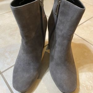 Charles David Ankle Bootie, soft gray suede